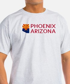Arizona: Phoenix (State Shape & Flag) T-Shirt
