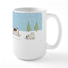 Keesies in the Snow Large Mug