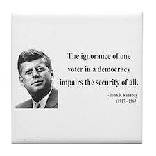 John F. Kennedy 8 Tile Coaster
