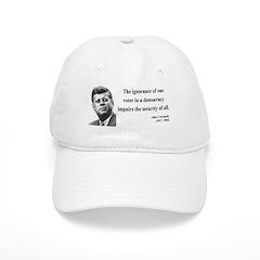 John F. Kennedy 8 Baseball Cap