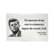 John F. Kennedy 8 Rectangle Magnet