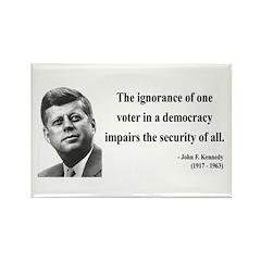 John F. Kennedy 8 Rectangle Magnet (100 pack)