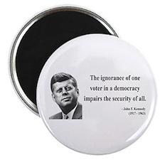 John F. Kennedy 8 Magnet