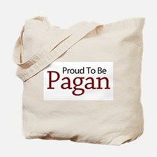 Red Proud to be Pagan Tote Bag
