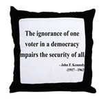 John F. Kennedy 8 Throw Pillow
