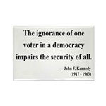 John F. Kennedy 8 Rectangle Magnet (100 pack)