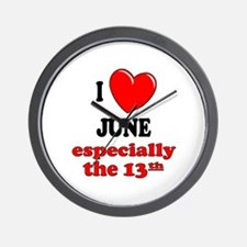 June 13th Wall Clock