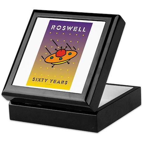 Roswell UFO w/background Keepsake Box