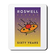 Roswell UFO w/background Mousepad