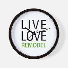 Live Love Remodel Wall Clock