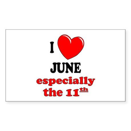 June 11th Rectangle Sticker