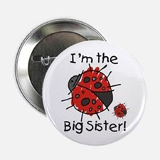 I'm the Big Sister Ladybug Button