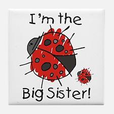I'm the Big Sister Ladybug Tile Coaster