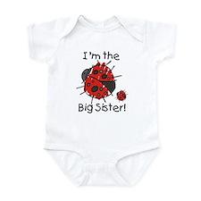 I'm the Big Sister Ladybug Infant Bodysuit