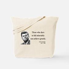 John F. Kennedy 9 Tote Bag