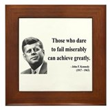 Jfk quotes Framed Tiles