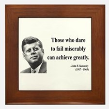 John F. Kennedy 9 Framed Tile