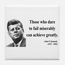 John F. Kennedy 9 Tile Coaster