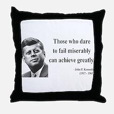 John F. Kennedy 9 Throw Pillow
