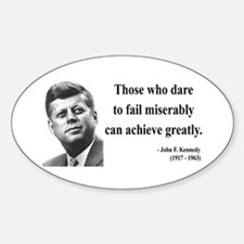 John F. Kennedy 9 Oval Decal