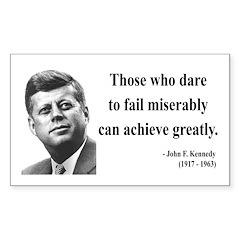 John F. Kennedy 9 Rectangle Decal