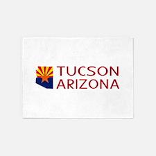 Arizona: Tucson (State Shape & Flag 5'x7'Area Rug