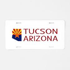 Arizona: Tucson (State Shap Aluminum License Plate