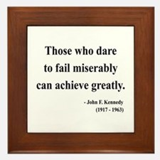 John F. Kennedy 9 Framed Tile