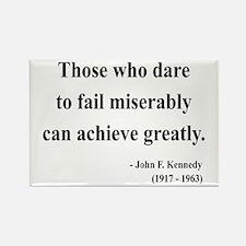 John F. Kennedy 9 Rectangle Magnet