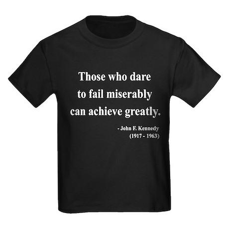 John F. Kennedy 9 Kids Dark T-Shirt