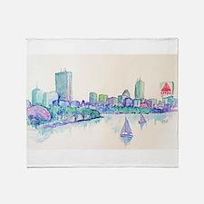Boston Skyline Throw Blanket
