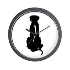 Sitting Ridgeback Wall Clock