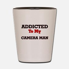 Addicted to my Camera Man Shot Glass