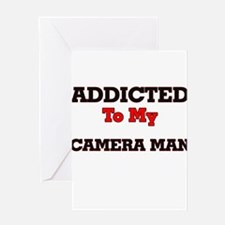 Addicted to my Camera Man Greeting Cards
