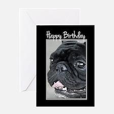 Birthday French Bulldog Greeting Cards
