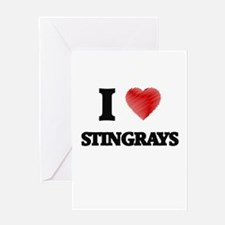 I love Stingrays Greeting Cards