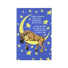 Great Dane Brindle Twinkle Rectangle Magnet