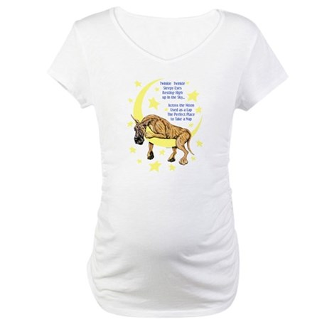 Great Dane Brindle Twinkle Maternity T-Shirt