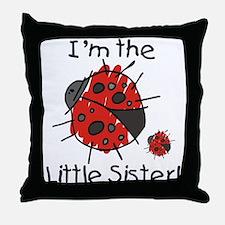 Little Sister Ladybug Throw Pillow