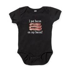 Cute I love bacon and chips Baby Bodysuit