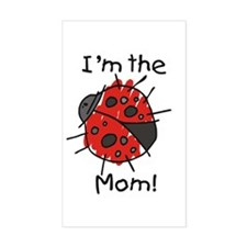 I'm the Mom Ladybug Rectangle Decal