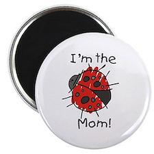 "I'm the Mom Ladybug 2.25"" Magnet (10 pack)"