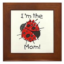 I'm the Mom Ladybug Framed Tile