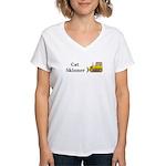 Cat Skinner Women's V-Neck T-Shirt
