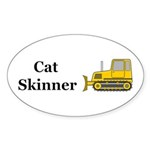 Cat Skinner Sticker (Oval 10 pk)