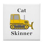 Cat Skinner Tile Coaster