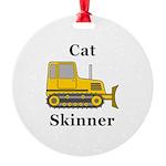 Cat Skinner Round Ornament