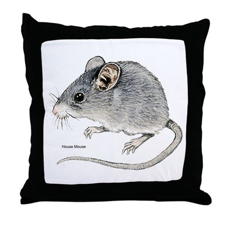 Mouse Rodent Throw Pillow
