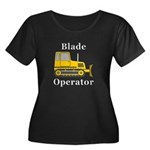 Blade Op Women's Plus Size Scoop Neck Dark T-Shirt