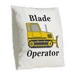 Blade Operator Burlap Throw Pillow